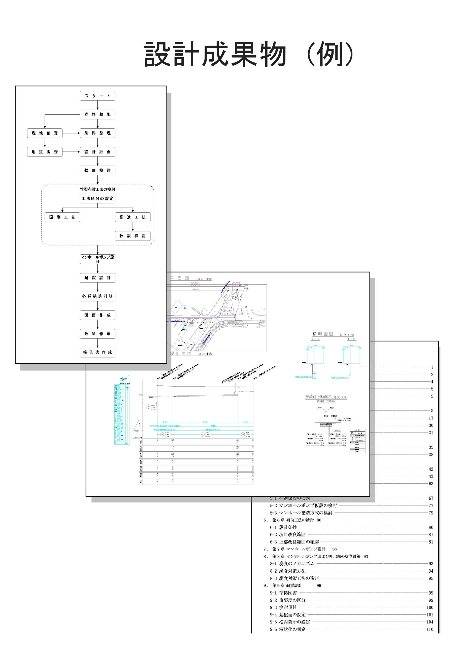 枝線管渠設計(開削工法・推進 ...